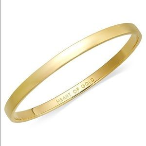 Kate Spade Heart of Gold 12K plated idiom bangle